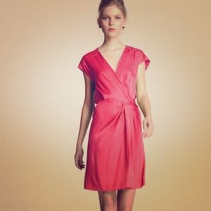 "DVF Pink Coral Silk ""Akari"" Dress Size 10/12"